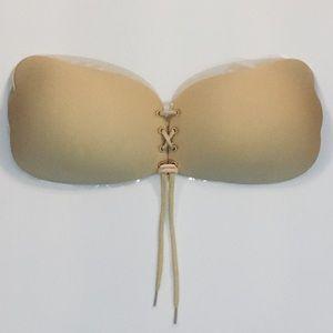 Intimates & Sleepwear - $10❤️A or B Backless, Lace Up Adhesive Nude Bra